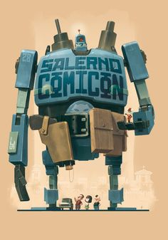 Comicon by scoppetta.deviantart.com. Cool giant robot. #robot #character #comiccon
