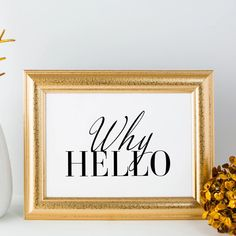Why Hello All Print, Graphic Design, Frame, Prints, Picture Frame, Frames, Visual Communication