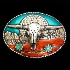 Longhorn Western Cow Animal Metal Belt Buckle Cool Belt Buckles, Rodeo Belt Buckles, Cowgirl Belts, Cowboy Boots Women, Western Belts, Cowboy And Cowgirl, Men's Accessories, Longhorn Cow, Rodeo Cowboys