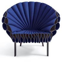 Blue Peacock Chair made by Studio Dror