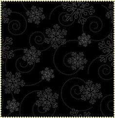 This Maywood Studios Christmas fabric is perfect for your winter holiday sewing. There are fun gray snowflakes on black fabric. This is perfect
