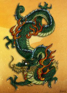 Japanese Dragon Drawings | dragon japanese by coji 13 traditional art drawings portraits figures ...