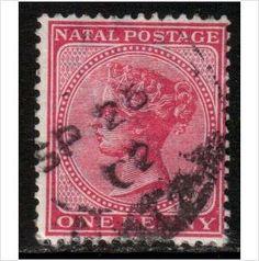South Africa, Natal Scott 67 - SG99, 1882 1d Rose used stamps sur le France de eBid
