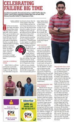 'Celebrating Failure Big Time'  Special feature of FailFest in Jagran's CityPlus Hyderabad newspaper- July 3-9 Vol-5, Issue-27.  Please find the newspaper here- http://cityplusepaper.jagran.com/298149/Hyderabad-Ameerpet/Ameerpet-July-3-9-Vol-5-Issue-27#page/6/2  #FailFest
