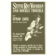 Stevie Ray Vaughan & Double Trouble POSTER NEW 11x17 Handbill