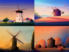 New Behance Project 🌟 New Behance Project 🌟 by Febin_Raj on Dribbble<br> Hello 👋 I just published the windmills project on Behance. Check out the full project in here - Behance Social Projects, Flat Illustration, Illustrations, Saint Charles, San Luis Obispo, Animation Film, Graphic Design Inspiration, New Art, Scenery