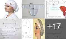 Scrubs Pattern, Scrub Hat Patterns, Hat Patterns To Sew, Sewing Patterns, Turban Tutorial, Diy Hat, Scrub Hats, How To Make Clothes, Hat Hairstyles