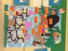 Close up of our Europe/Fairy Tale mural. The kids made the whole thing. Isn't it fabulous?!!CCSS5