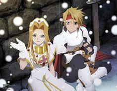 Kousuke Fujishima, Namco, Tales of Phantasia, Cless Alvein, Mint Adnade Character Concept, Concept Art, Tales Of Phantasia, Tales Series, Snowy Day, Video Game Art, True Love, Geek Stuff, Anime