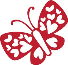 Silhouette Online Store - View Design #3066: Heart Butterfly