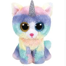 9e5821589e6 Ty Beanie Boos 6 Ozzy the Blue Bat Plush Regular Soft Big-eyed Stuffed  Animal Collectible Doll Toy with Heart Tag