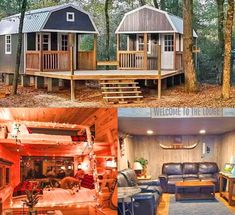 """""""We-Shed"""" is The Ultimate Dual Shed For Him And Her With a Conjoined Deck! Shed To Tiny House, Tiny House Cabin, Tiny House Living, Tiny House Plans, Living In A Shed, Tiny Houses, Barn Living, Small Living, Wood Shed Plans"""