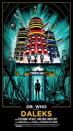 Tim Doyle Dr Who Daleks poster-1