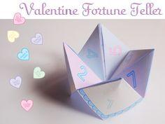 valentine cootie catcher printable