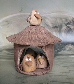 Autorská keramika a umělecký cínovaný šperk - Fotoalbum - Keramika - krmítko