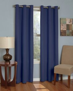 The College Blackout Curtain - Microfiber Sunblock Drape (Navy) will let you sleep in darkness in your college dorm room. Blackout curtains for dorm rooms are dorm essentials if you plan on sleeping well. Blackout Panels, Blackout Windows, Blackout Curtains, Navy Curtains, Grommet Curtains, Window Curtains, Eclipse Curtains, Window Panels, Curtain Panels