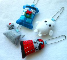 PDF PATTERN Doctor Who Keychain/Ornament Plush by michellecoffee