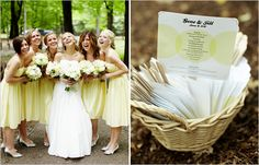Or these bridesmaids dress are cute too!  Maybe we could spice it up with some turquois heels and colorful bouquet