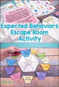 I love this expected behaviors escape room activity to teach kids and young adults about group work behaviors, hallway behaviors, behaviors with friends, and more. Kids and teens will learn the social skills of what is expected and not expected. Social Emotional Activities, Teaching Social Skills, Counseling Activities, Therapy Activities, Teaching Kids, Activities For Kids, Social Games, Social Skills Lessons, Group Counseling