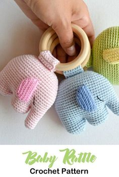 Baby Rattle Crochet Patterns – Cute Gifts - A More Crafty Life . - Baby Rattle Crochet Patterns – Cute Gifts – A More Crafty Life … Baby Rattle Crochet Patterns – Cute Gifts – A More Crafty Life Crochet Baby Toys, Crochet Gifts, Cute Crochet, Crochet For Kids, Crochet Dolls, Baby Knitting, Baby Patterns, Crochet Patterns, Häkelanleitung Baby