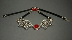 Vampire Necklace with Red Chalcedon and Garnet  by Kieritivity