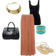 Casual maxi skirt