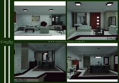 A porta com maior largura trouxe elegância para esta sala assim como o contraste de tons no piso. Já as luminárias com madeira além de compor o ambiente combinaram perfeitamente com o local deixando-o ainda mais aconchegante!
