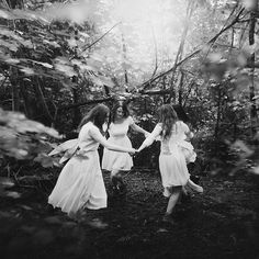 Dancing fairies in the forest