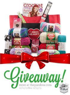 The Yarn Box & Red Heart Yarn giveaway! Crochet Beanie Pattern, Knit Or Crochet, Crochet Crafts, Yarn Crafts, Crochet Supplies, Red Heart Yarn, Love Is Free, Loom Knitting, So Little Time