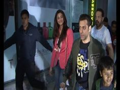 Salman Khan with Daisy Shah at PVR cinema to watch SHOLAY 3D.