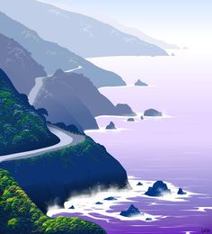 'Big Sur' by Tom Carlos on artflakes.com as poster or art print $14.56