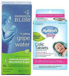 Hyland's 125 Count Baby Colic Tablets with Mommy's Bliss Gripe Water