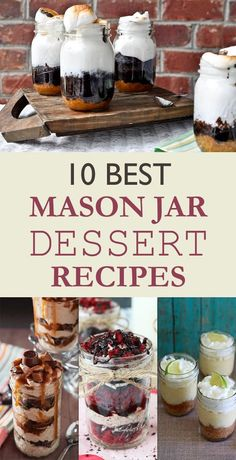 Bake your favorite treats with our many sweet recipes and baking ideas for desserts, cupcakes, breakfast and more at Cooking Channel. Mason Jar Desserts, Mason Jar Meals, Meals In A Jar, Mason Jar Crafts, Mason Jar Diy, Mason Jar Food, Mason Jar Recipes, Brownie Desserts, Köstliche Desserts
