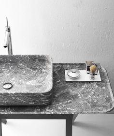 BOWL N°9 Countertop #marble washbasin by Kreoo #design Enzo Berti