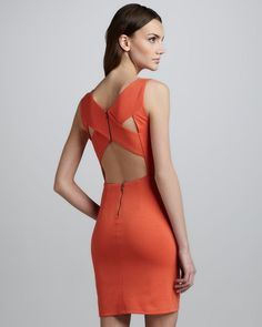 Alice   Olivia Tali Open Back Dress
