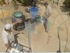 Abastecen de agua potable a familias de Santiago y Miraflores