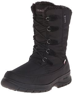 Kamik Womens Brooklyn Snow Boot Black 11 M US * Check out the image by visiting the link.