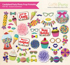 Candyland Party Photo Booth Prop Candyland Theme Photo Booth