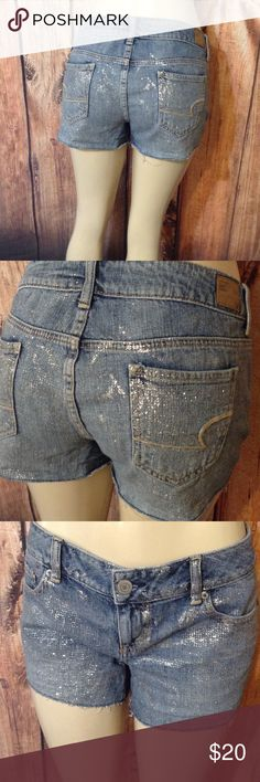 "American Eagle shorts size 10 Size 10 or 33"" waist,      Thank you for looking American Age Shorts Jean Shorts"