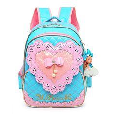 6ee19be6e6d0  28.99 Debbieicy Cute Waterproof PU Leather Loving Heart Princess Bag Kids  Backpack for Girls (Blue)