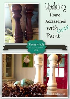 How to Chalk Paint Salt and Pepper Shakers - Farm Fresh Vintage Finds