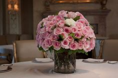 93 Rose Centerpiece   Light Pink Rose Arrangement   Compact Floral Arrangement   Wedding Flower Ideas   Wedding Centerpiece   Decor Ideas ~~~~~~~~~~~~~~~~~~~~~~~~~~~~~~~~ Petal Patch Florist: 979-696-6713      3808 S Texas Ave Bryan, TX 77802