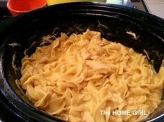 "A Great weeknight family meal in the crock pot! ""Creamy Dreamy Crock Pot Chicken and Noodles!"" A new family favorite!! =)"