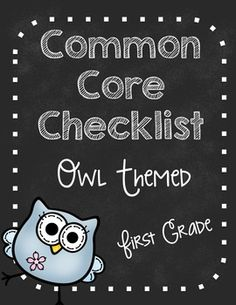 Use this checklist to document when you have taught to the first grade Common Core Standards.   Keep it with your lesson plans (or data notebook) so that you can write down when you have taught to the standard, or if you would rather, mark when you have assessed.After the checklist are pages where you can print out and give parents at the beginning of the year.  (it lists the standar...