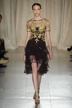 Marchesa RTW Spring 2013 - LBD with a whole different feel!
