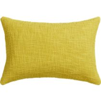 """basis citrine 18""""x12"""" pillow with down-alternative insert"""