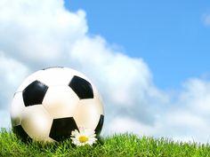 Image from http://www.sportsdesktopwallpaper.net/backgrounds/soccer/soccer-ball-with-daisy-against-blue-sky.jpg.