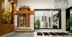 An Ideal pooja room....!!! For more; http://www.monnaieinteriors.com/ #architecture #interior #designer