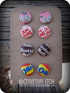 candy wrapper earrings #earrings #upcycle