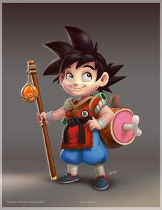 Young Goku by Salvador Ramirez Madriz - ReevolveR